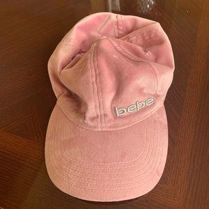 Bebe pink velvet cap